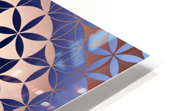 Flower of Life Mandala Pattern HD Sublimation Metal print