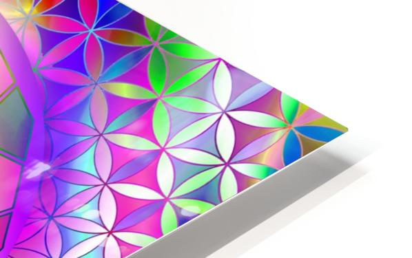 Crystal Flower Mandala HD Sublimation Metal print
