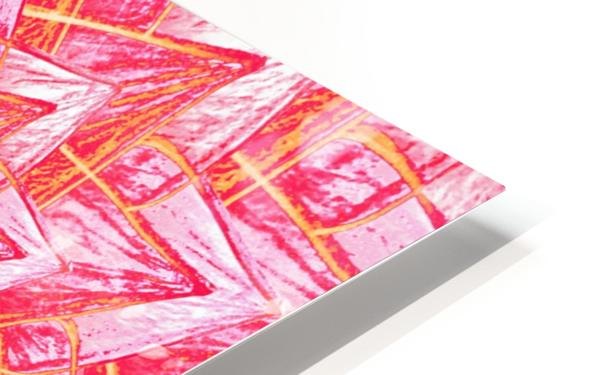 Red Flower Mandala Handdrawing  HD Sublimation Metal print
