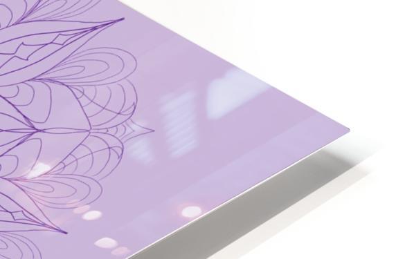 lilac mandala HD Sublimation Metal print