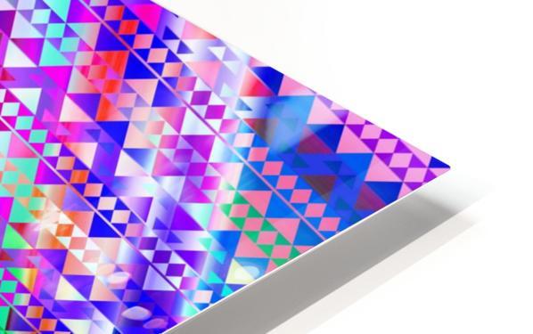 Mayan Pattern Blue HD Sublimation Metal print