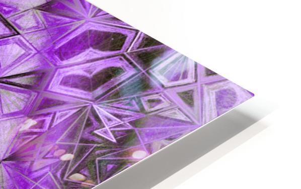 Purple Fractal Kaleidoscope Handdrawing HD Sublimation Metal print