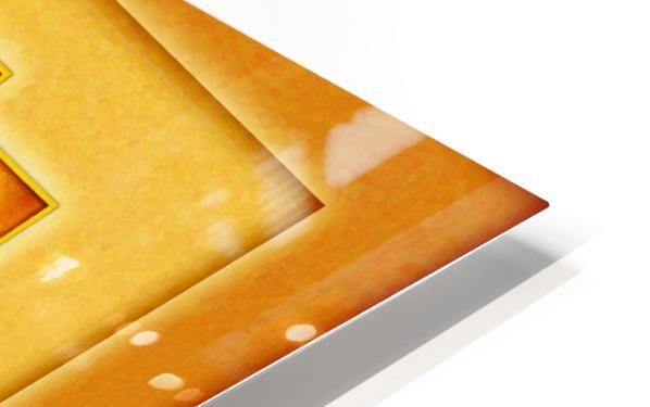 Golden Sri Yantra III HD Sublimation Metal print