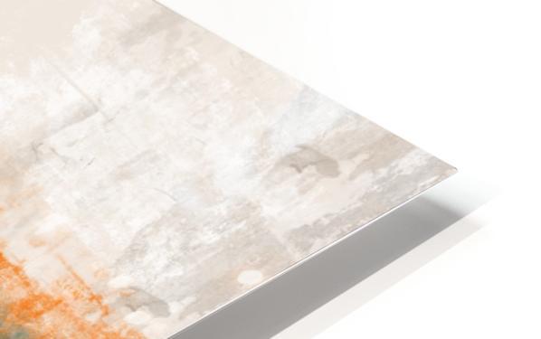 Blue Gray Orange Abstract DAP 20014 HD Sublimation Metal print