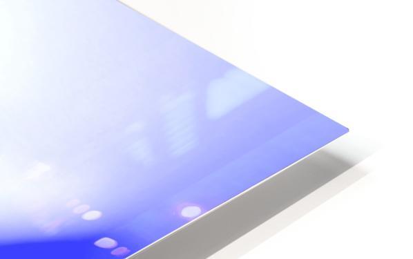 Heavenly Peony Blue HD Sublimation Metal print