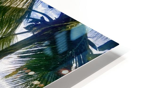 Sailboat And Palms HD Sublimation Metal print