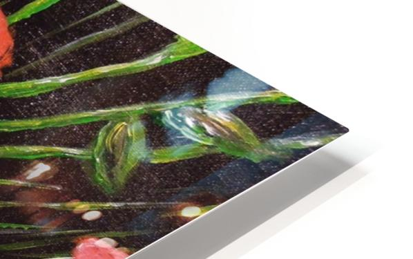 Folding Poppy HD Sublimation Metal print