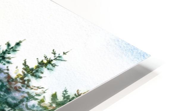 Landscape With Redwood Creek  HD Sublimation Metal print