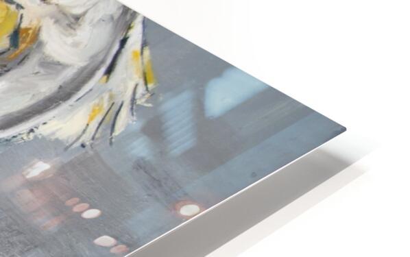 Louisiana White Pelican with Metallic Silver HD Sublimation Metal print