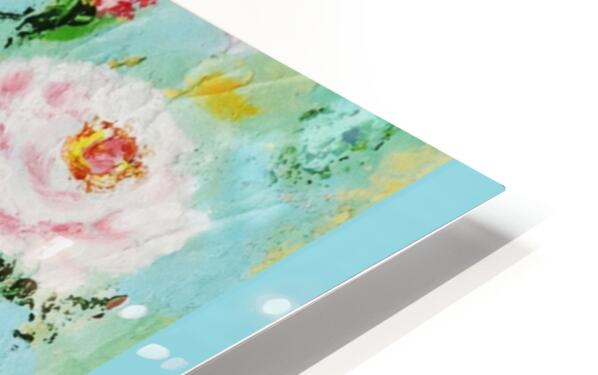 Roses on Aqua HD Sublimation Metal print
