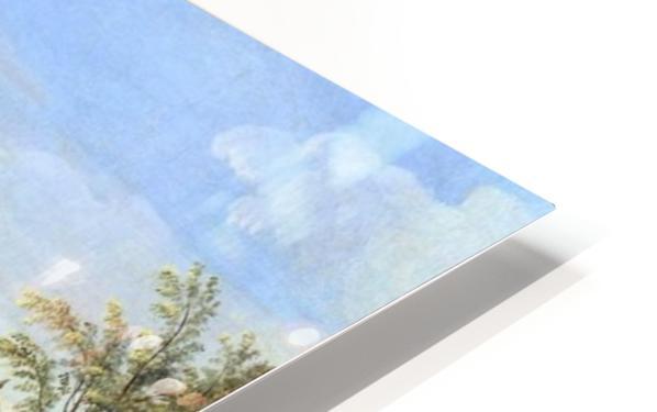 A view of the Villa Aldobrandini HD Sublimation Metal print