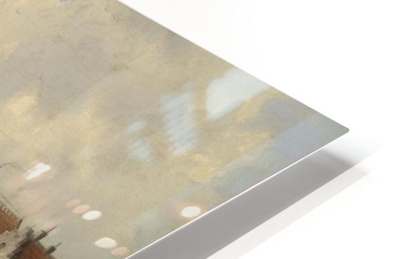 Blick auf eine Hafenstadt HD Sublimation Metal print