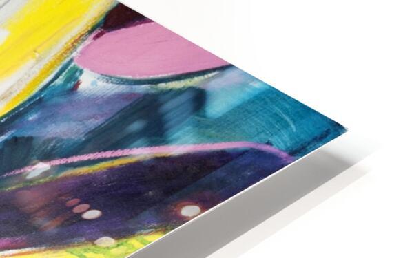 Louisiana Zinnias Triptych Panel III HD Sublimation Metal print