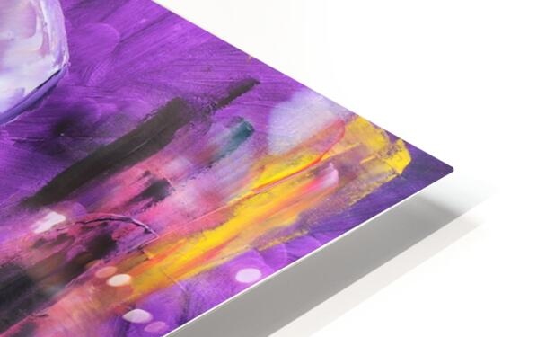 Woman in violet HD Sublimation Metal print