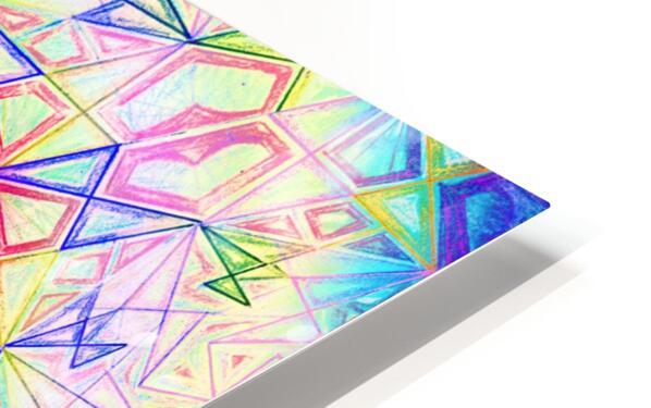 Psychedelic Art Hexagon Mandala Handdrawing HD Sublimation Metal print