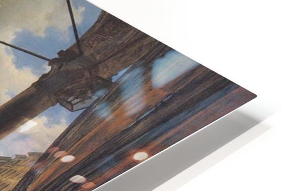 Veduta della piazza del Duomo dal Coperto dei Figini HD Sublimation Metal print