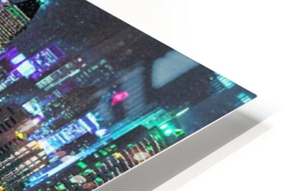 Neon City HD Sublimation Metal print