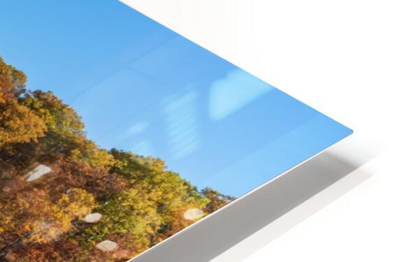 Harpersfield covered bridge and dam Ashtabula County autumn 2020 HD Sublimation Metal print