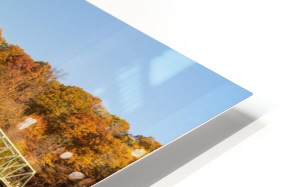 Harpersfield covered bridge and reflection Ashtabula County Ohio HD Sublimation Metal print