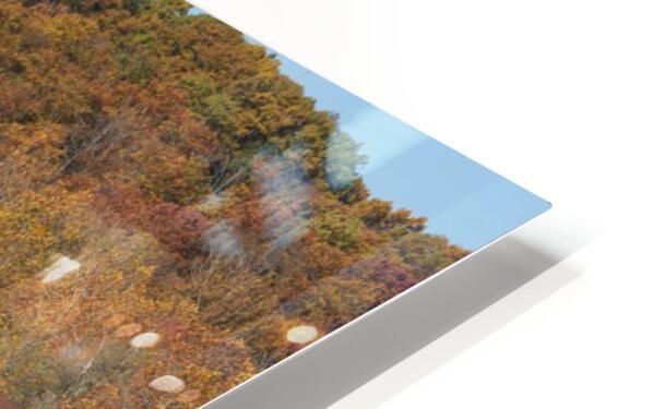 Harpersfield Ohio covered bridge in autumn HD Sublimation Metal print
