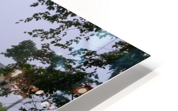 Harpersfield Ohio covered bridge in fog HD Sublimation Metal print