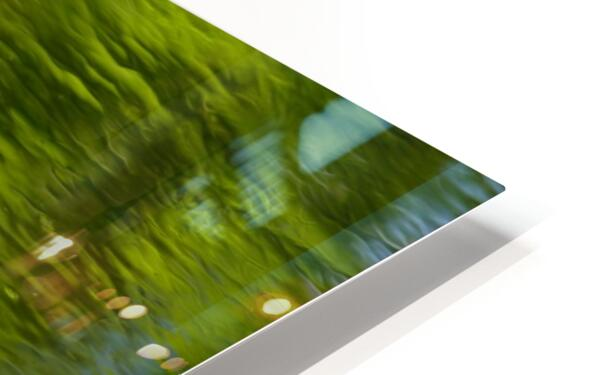 Flowing reflections spring HD Sublimation Metal print