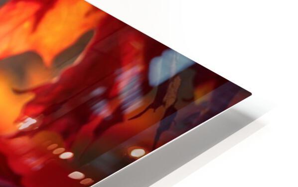 Rouge dautomne Impression de sublimation métal HD