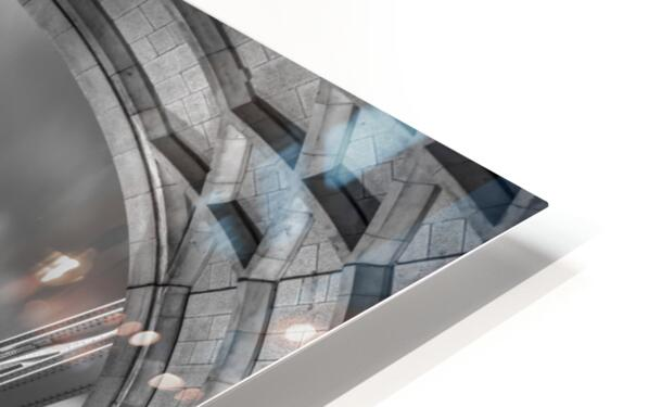 Tower bridge with strip lights, London, UK HD Sublimation Metal print