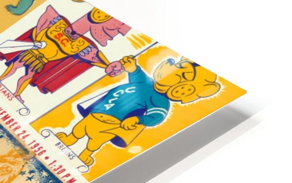 USC Trojans Football Ticket Stub Collage HD Sublimation Metal print