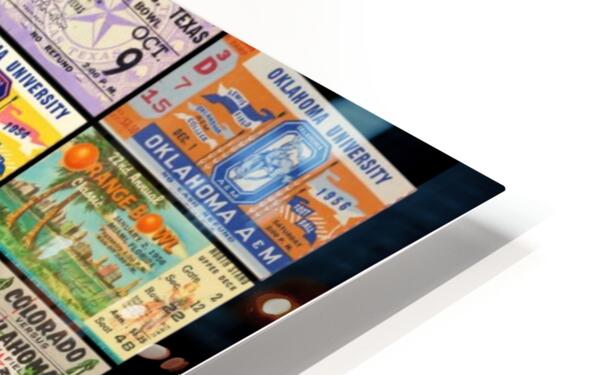 Oklahoma Football Bud Wilkinson Ticket Collage HD Sublimation Metal print