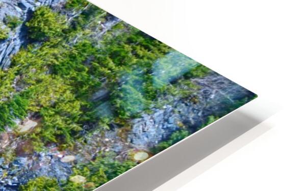 Rainbow Falls Rainier HD Sublimation Metal print