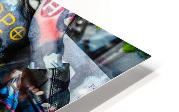 LA FEMME A LA VESTE DE CUIR  HD Sublimation Metal print