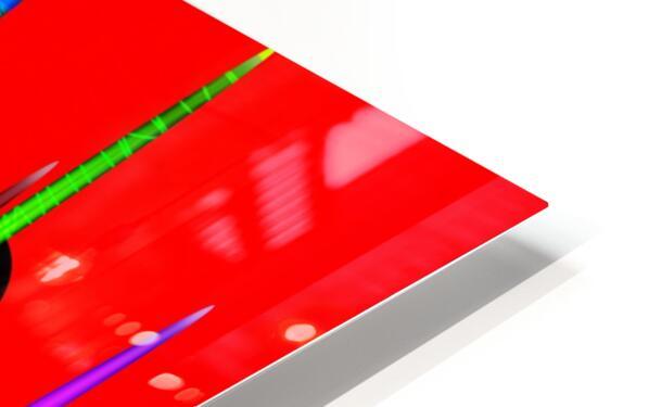 HorizonRedCircles HD Sublimation Metal print