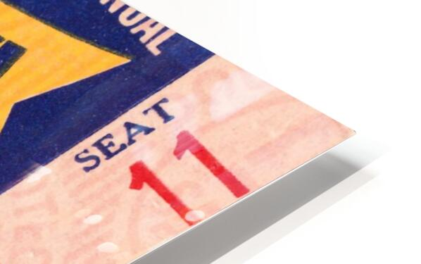 1951 First Pro Bowl Ticket Stub Art HD Sublimation Metal print