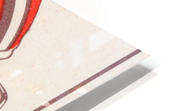 1974 Cleveland Browns Ticket Stub Art HD Sublimation Metal print
