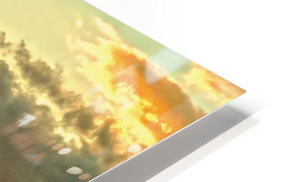 The Carolina Sunset HD Sublimation Metal print