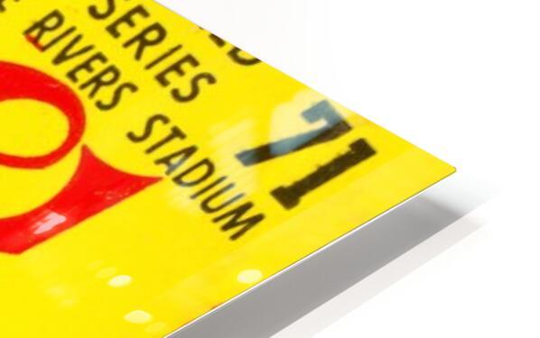 1971 World Series Ticket Stub Wall Art HD Sublimation Metal print