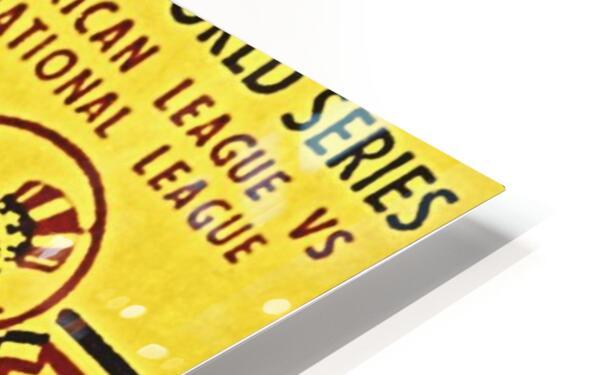 1956 World Series Perfect Game Ticket Stub Art HD Sublimation Metal print