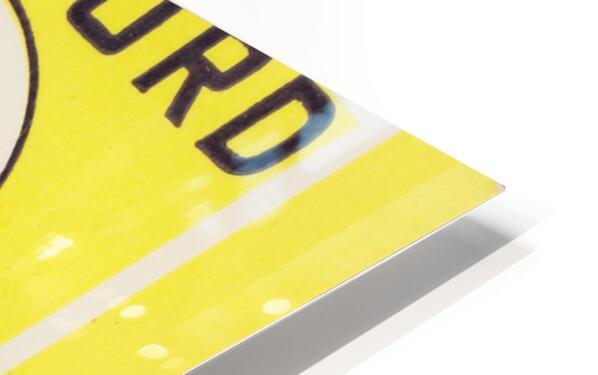 1972 Stanford vs. USC Ticket Stub Art HD Sublimation Metal print