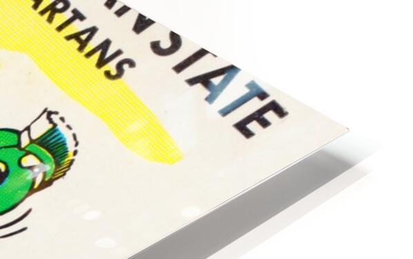 1957 Wisconsin vs. Michigan State Football Ticket Art HD Sublimation Metal print