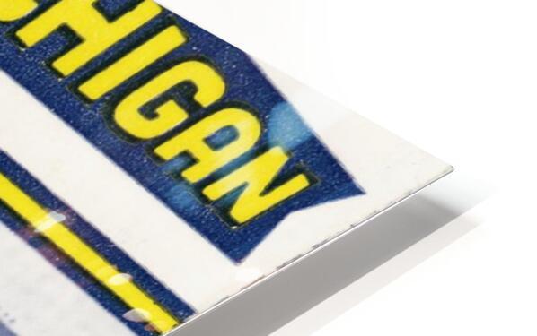 1955 Michigan vs. Ohio State Football Ticket Art HD Sublimation Metal print