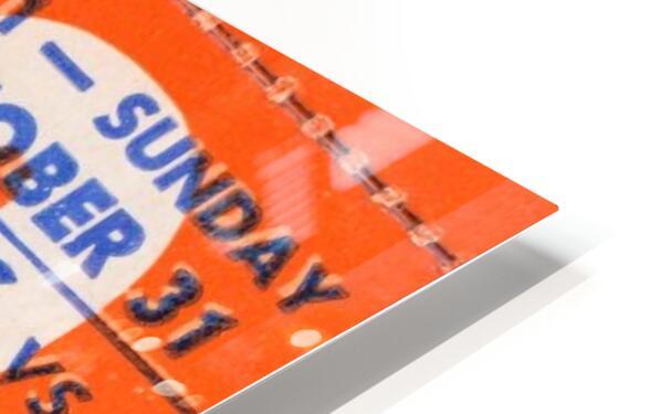 1971 Chicago Bears vs. Dallas Cowboys Ticket Art HD Sublimation Metal print