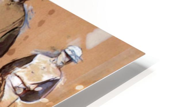 Study with four jockeys by Degas HD Sublimation Metal print