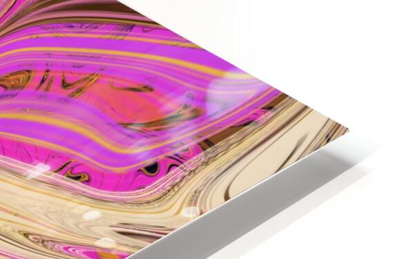 Paint Pour Tan and Pink HD Sublimation Metal print