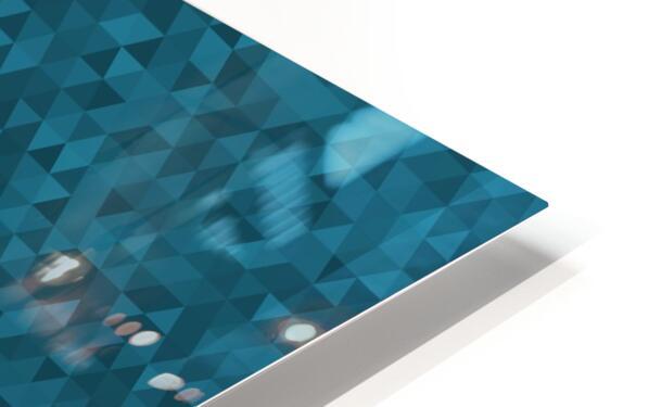 Dark Blue Glitter Pattern HD Sublimation Metal print