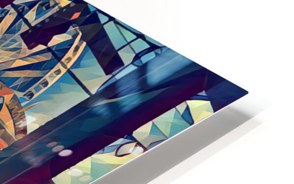 seattle great wheel art HD Sublimation Metal print