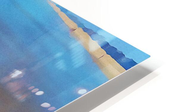 manhattan beach watercolor HD Sublimation Metal print