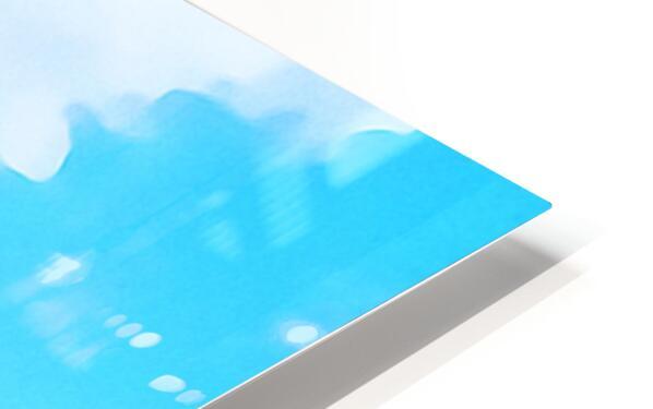 mt ranier art blue sky HD Sublimation Metal print