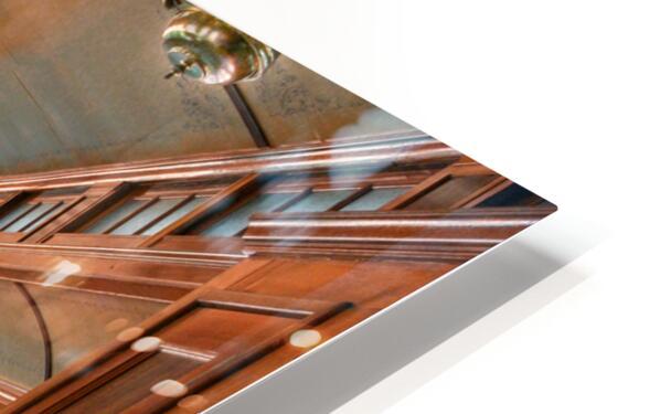 Interior of Antique Railcar. HD Sublimation Metal print