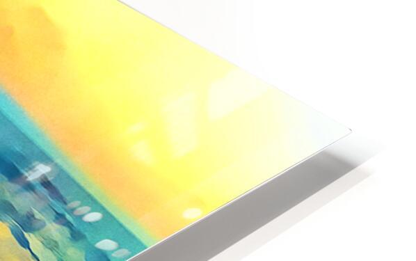 Yellow Sky at Manhattan Beach HD Sublimation Metal print